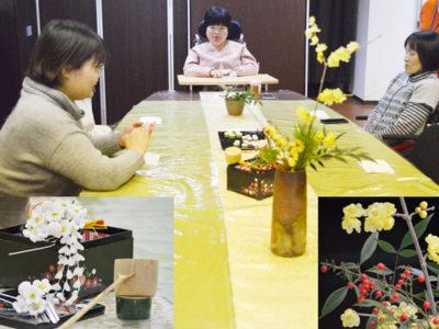 今月の美会は、「忘れ正月」と題しての抹茶をいただく会でした。