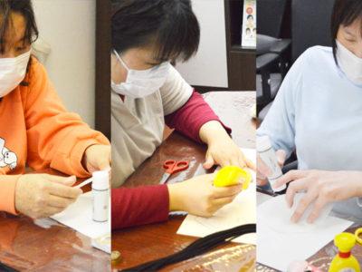 3月の美会はマスク作りをしました。